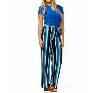 🎈Nwt Colorful Striped Wide leg Pants S